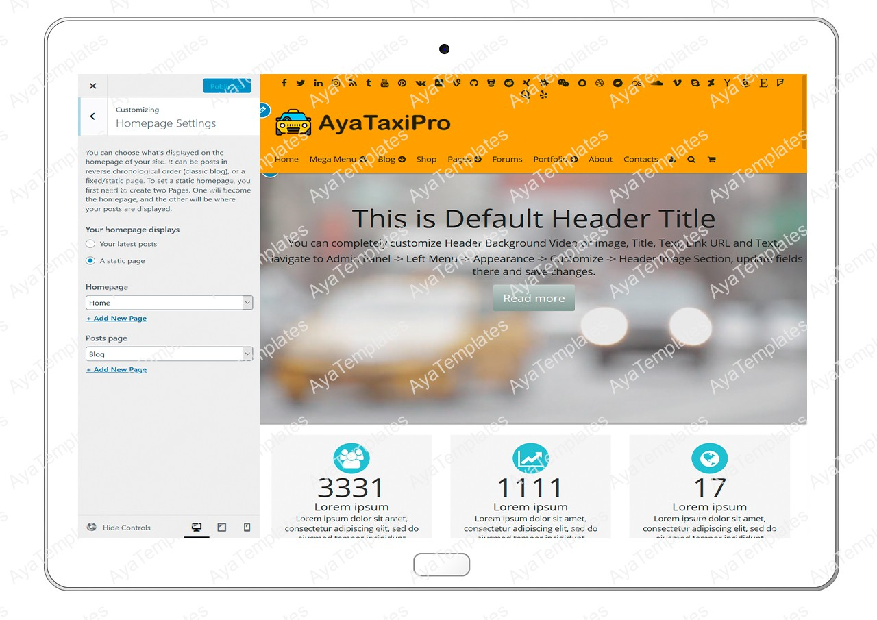 ayataxipro-customizing-homepage-settings1