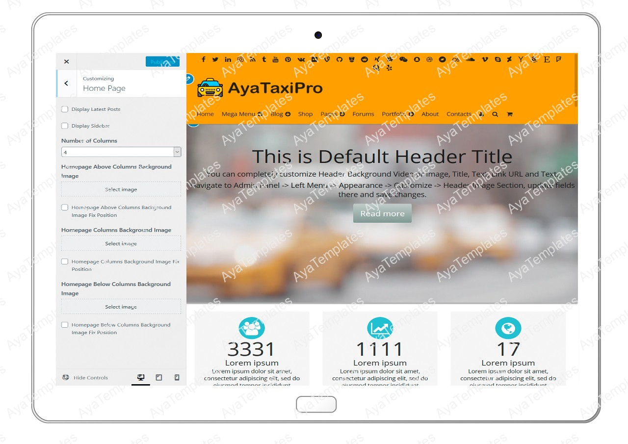 ayataxipro-customizing-homepage1