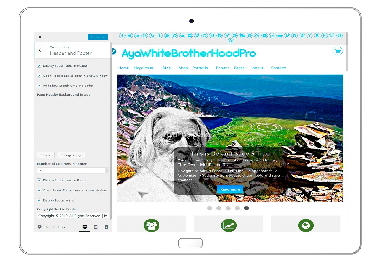 ayawhitebrotherhoodpro-customizing-header-and-footer