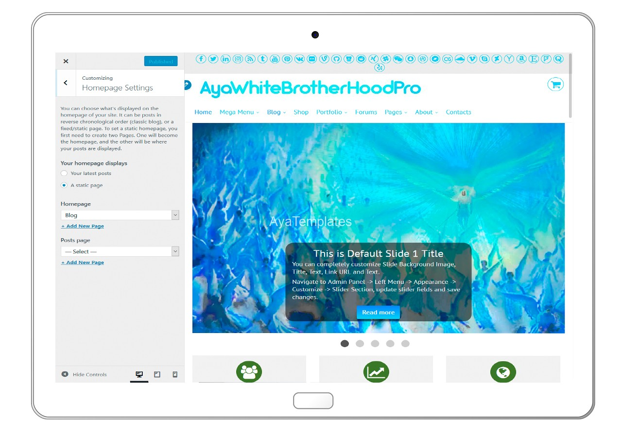 ayawhitebrotherhoodpro-customizing-homepage-settings