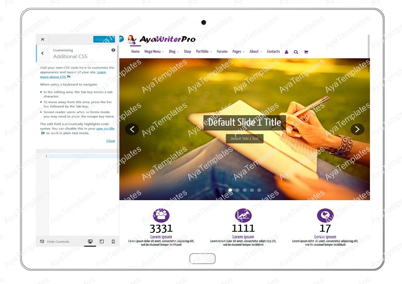 ayawriterpro-customizing-additional-css