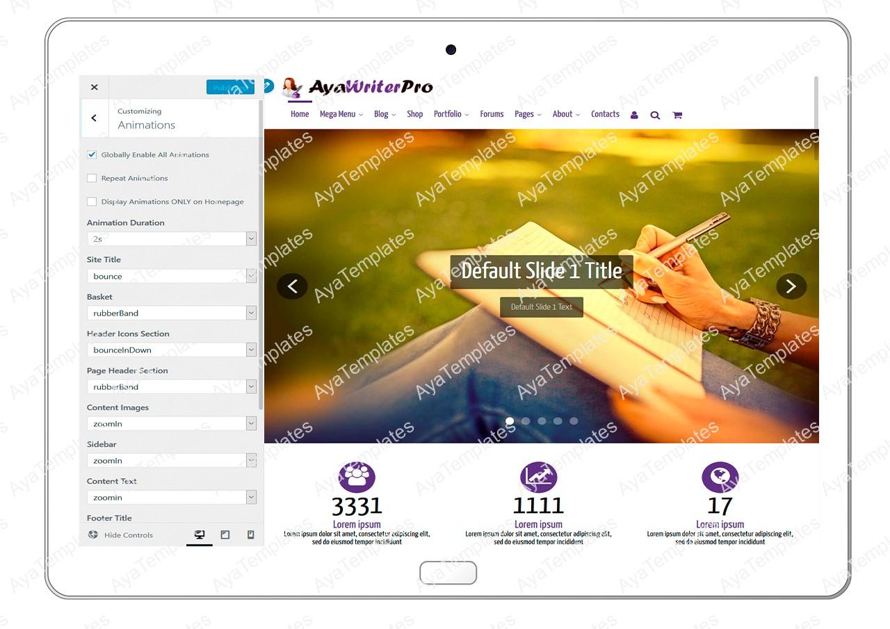 ayawriterpro-customizing-animations