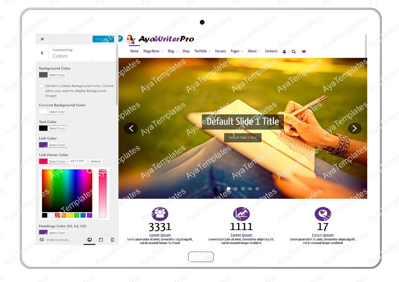 ayawriterpro-customizing-colors