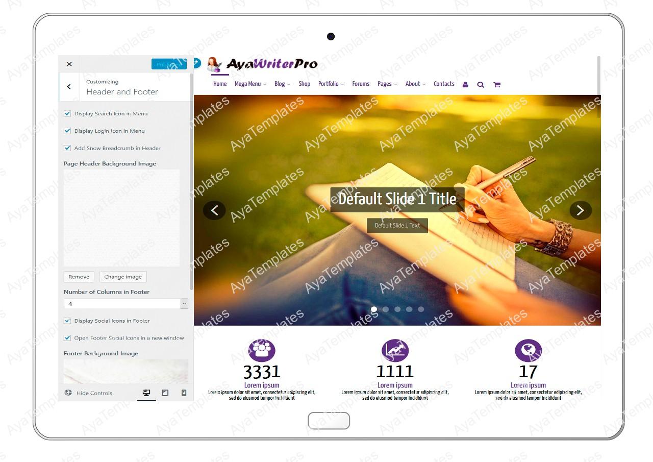 ayawriterpro-customizing-header-and-footer