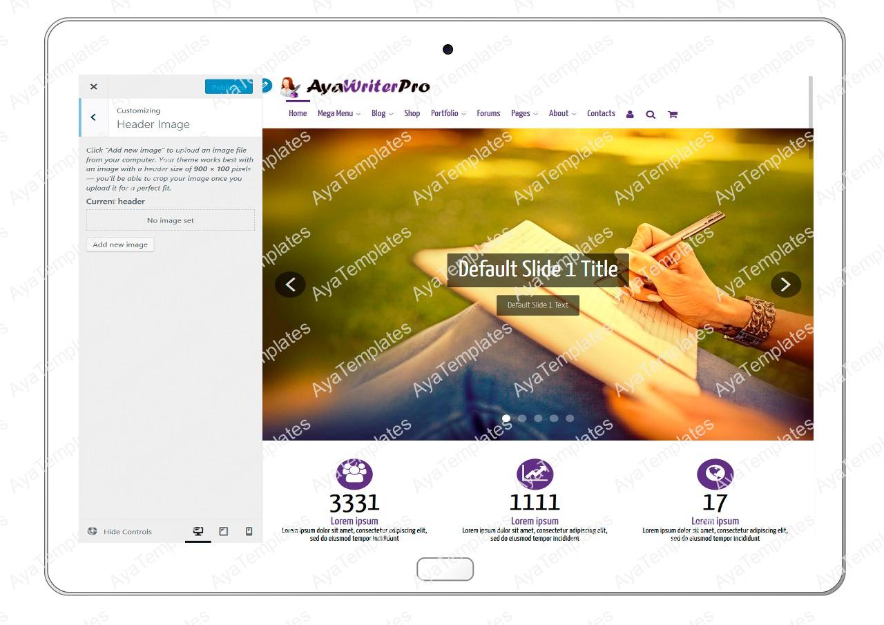 ayawriterpro-customizing-header-image