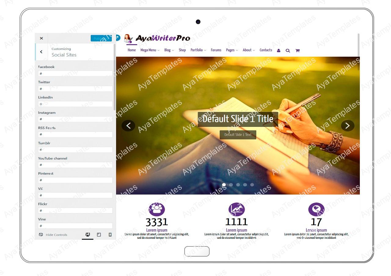 ayawriterpro-customizing-social-sites