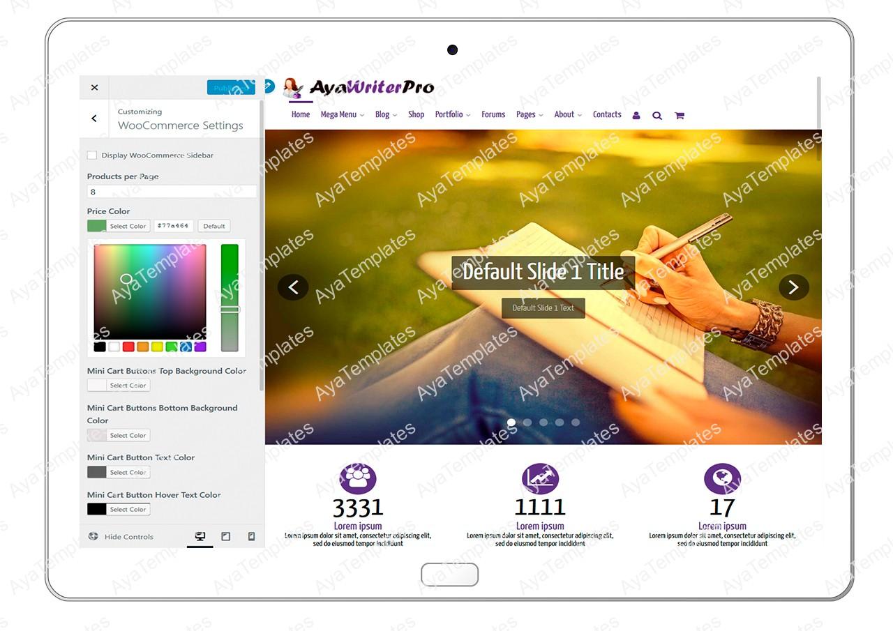 ayawriterpro-customizing-woocommerce-settings