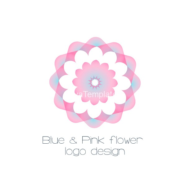 blue-and-pink-flower-logo-design-logo-and-brand-idenitty-ayatemplates-product-image