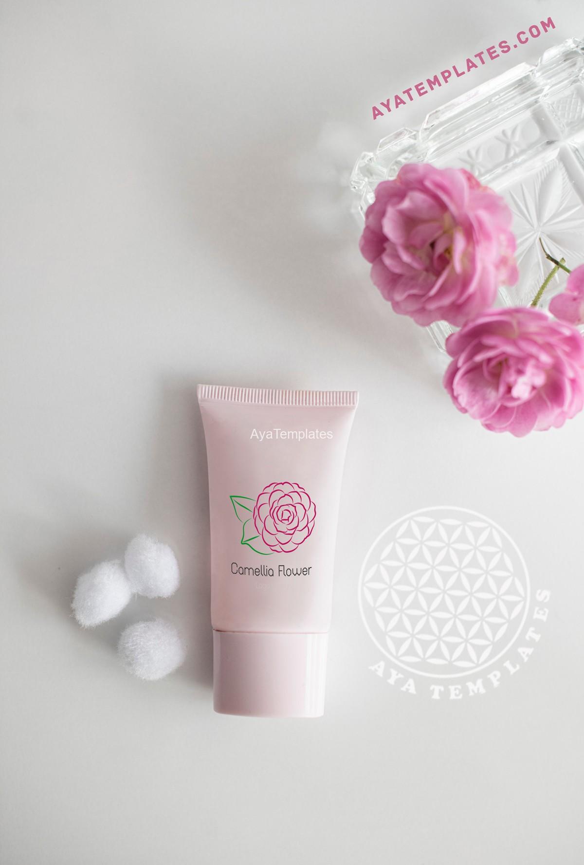 camellia-flower-logo-design-brand-identity-mockup-ayatemplates