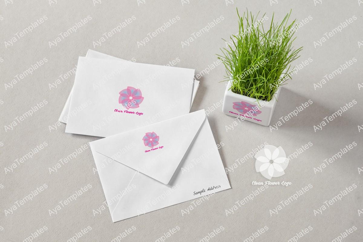 clean-flower-logo-design-brand-identity-mockup-ayatemplates