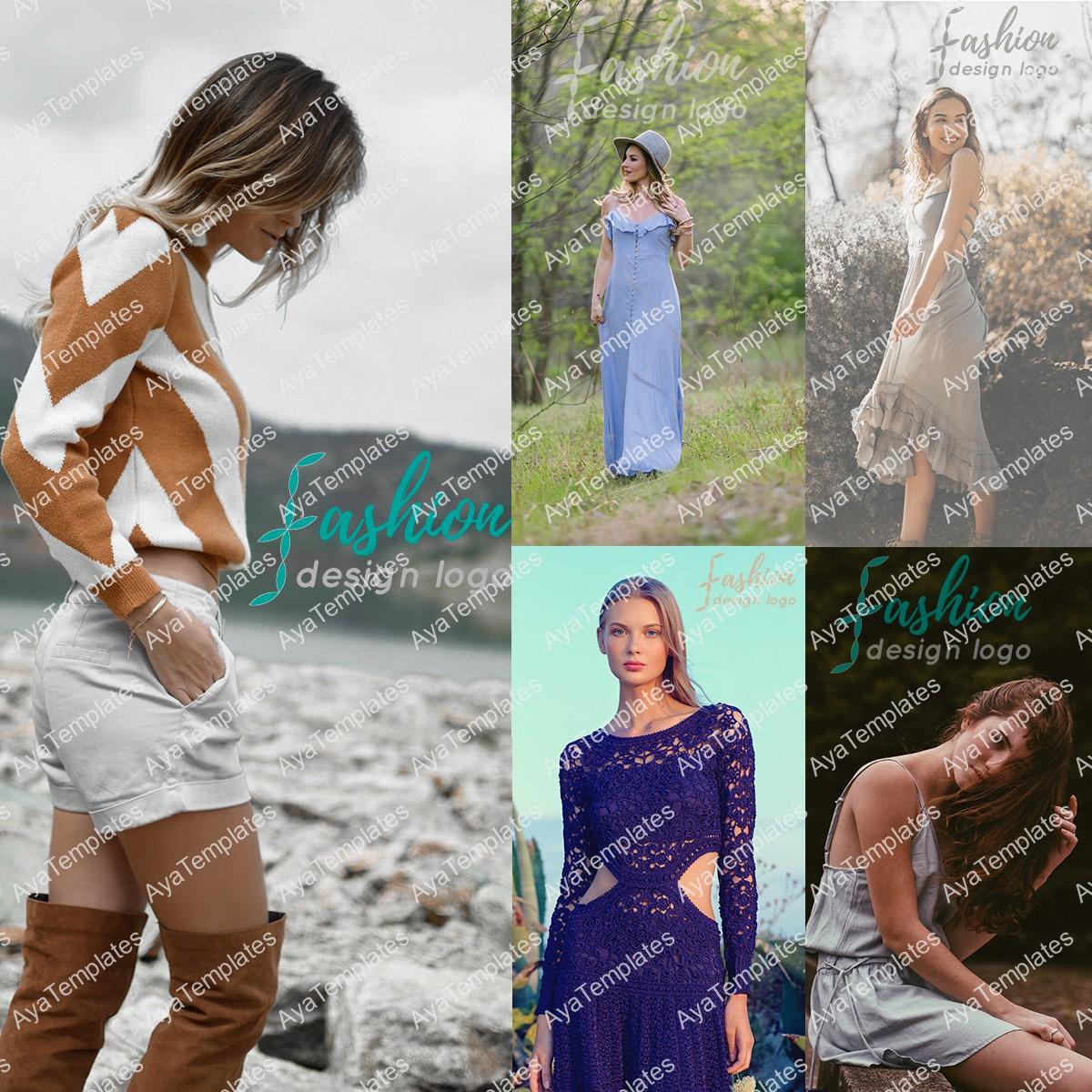 fashion-design-logo-mockup-collage