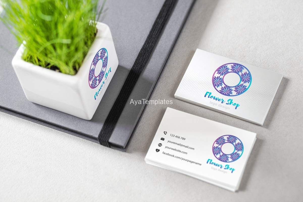 flower-shop-logo-design-branding-mockup-with-business-cards