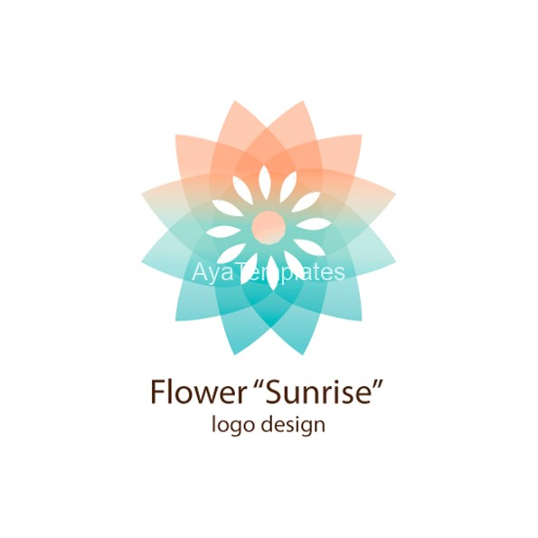 flower-sunrise-logo-design-aya-templates
