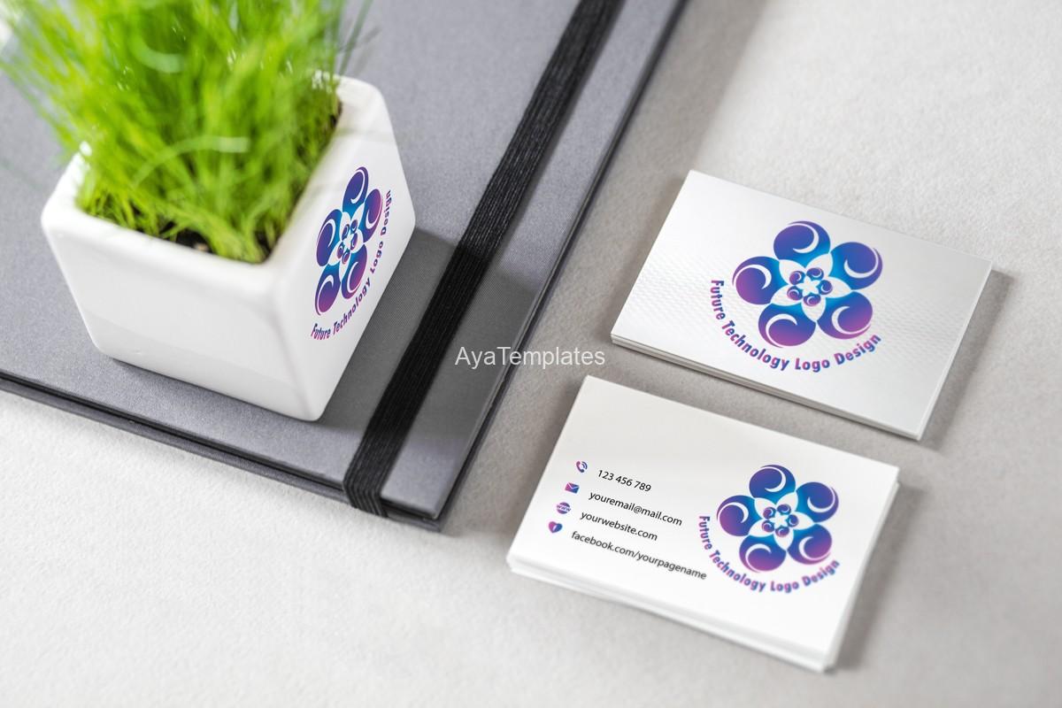 future-technology-logo-design-business-cards-branding-mockup-ayatemplates
