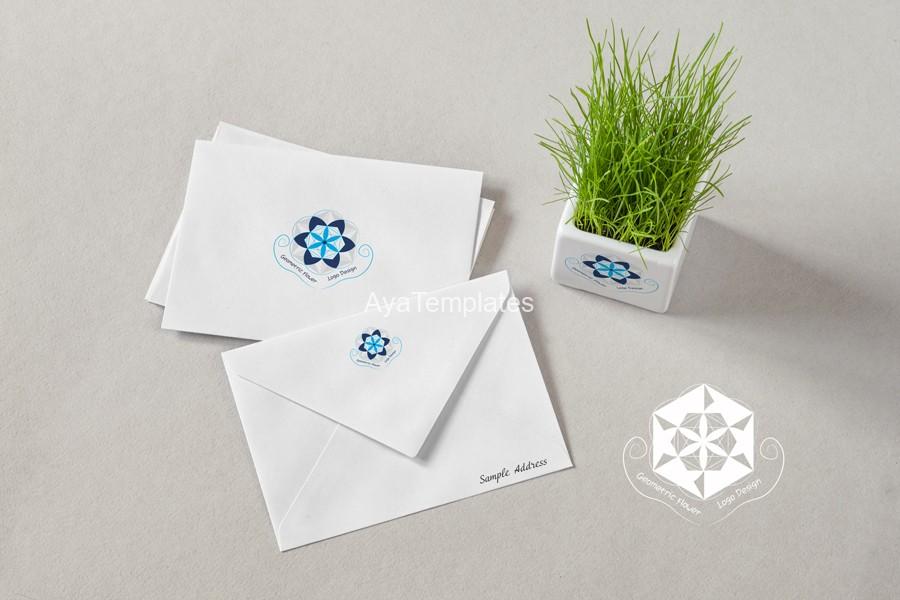 geometric-flower-logo-branding-design-mockup-ayatemplates