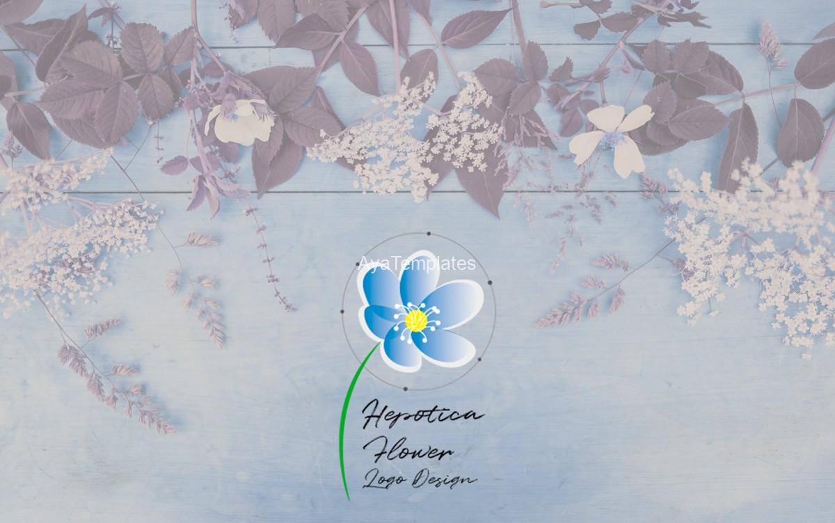 hepotica-flower-logo-design-mockup