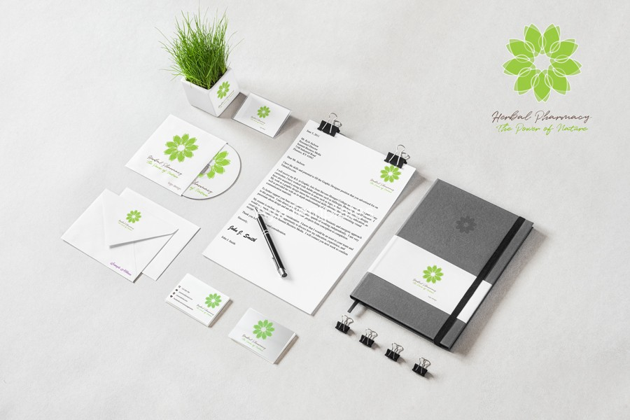 herbal-pharmacy-logo-design-mockup-brand-identity