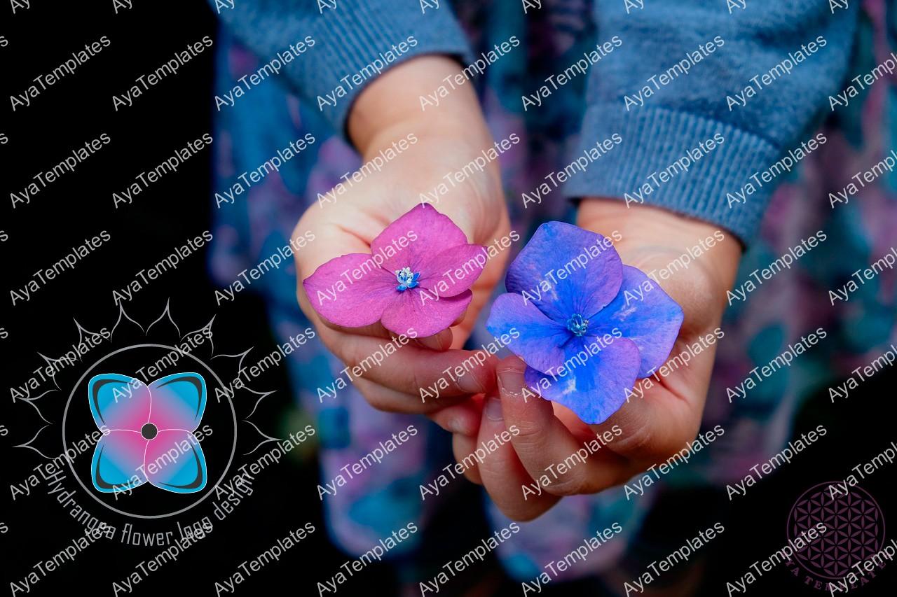hydrangea-flower-logo-design-mockup