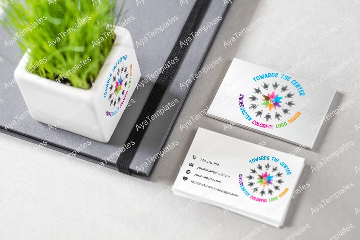 kindergarten-logo-design-mockup