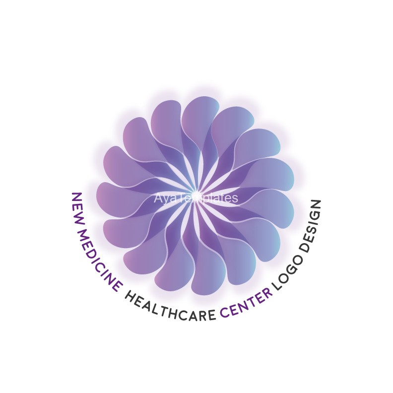 new-medicine-healthcare-center-logo-design