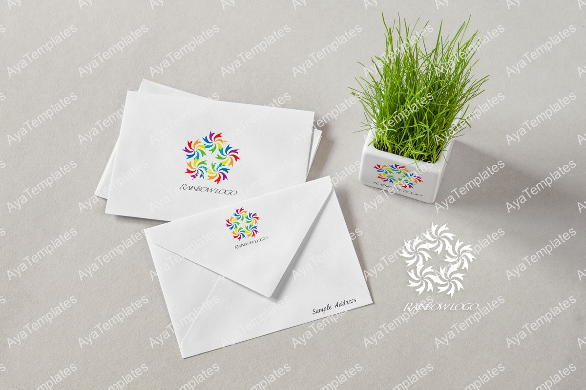 rainbow-flower-logo-design-branding-mockup-ayatemplates