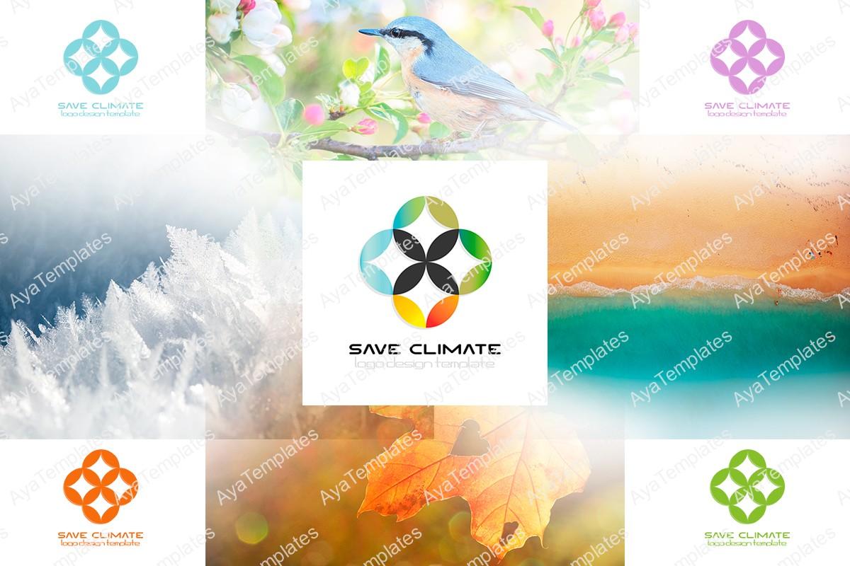 save-climate-logo-design-collage-ayatemplates
