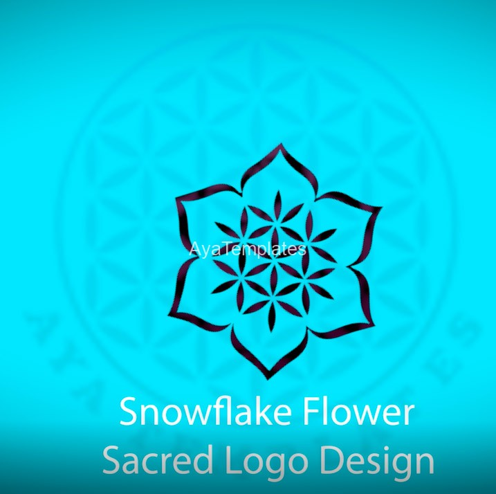 snowflake-flower-sacred-logo-design-music-intro-sound-logo-ayatemplates