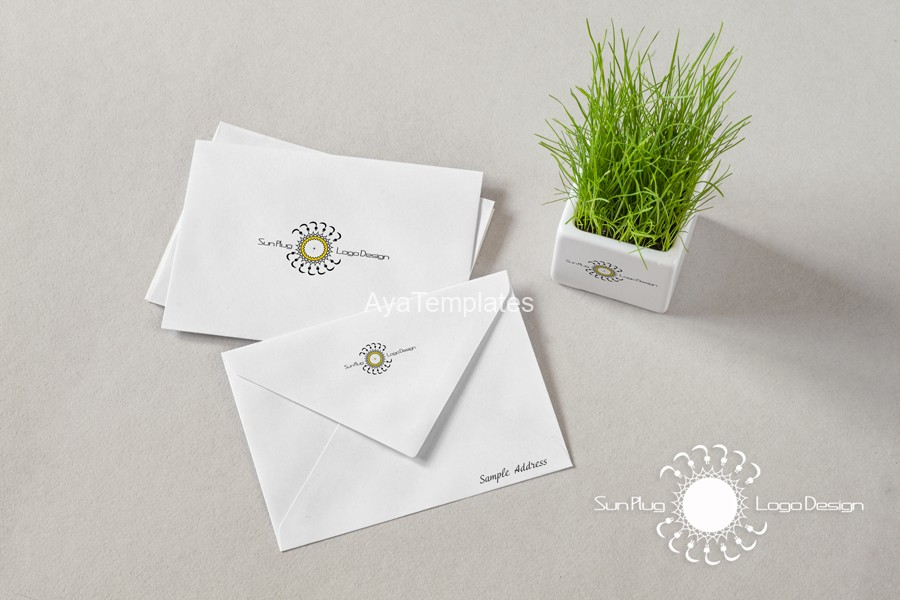 sun-plug-logo-design-mockup-brand-identity-ayatemplates