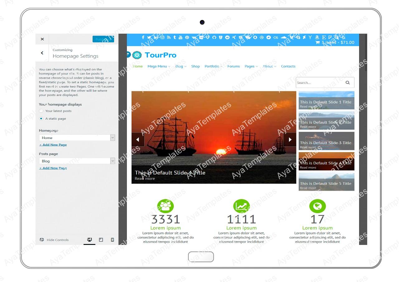 tourpro-customizing-homepage-settings