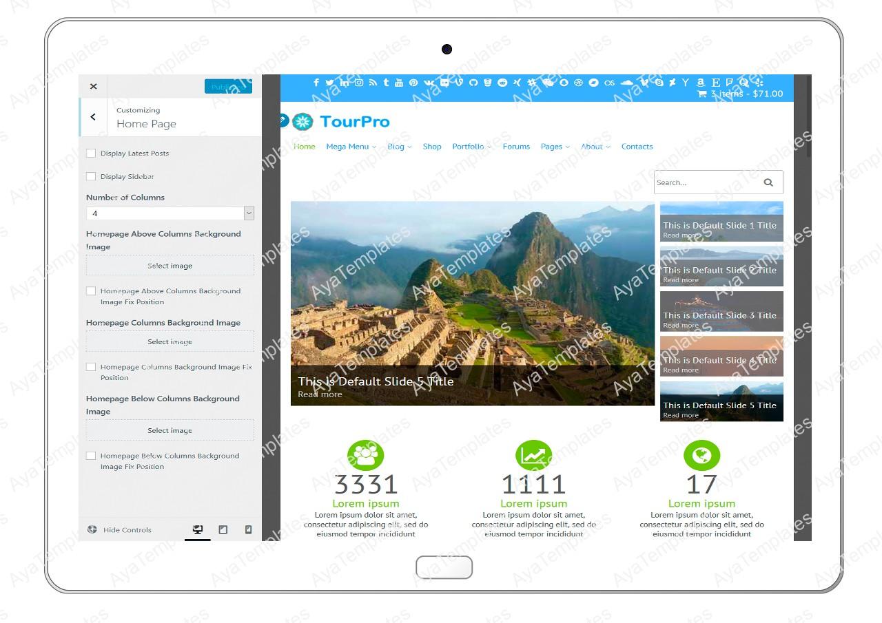 tourpro-customizing-homepage