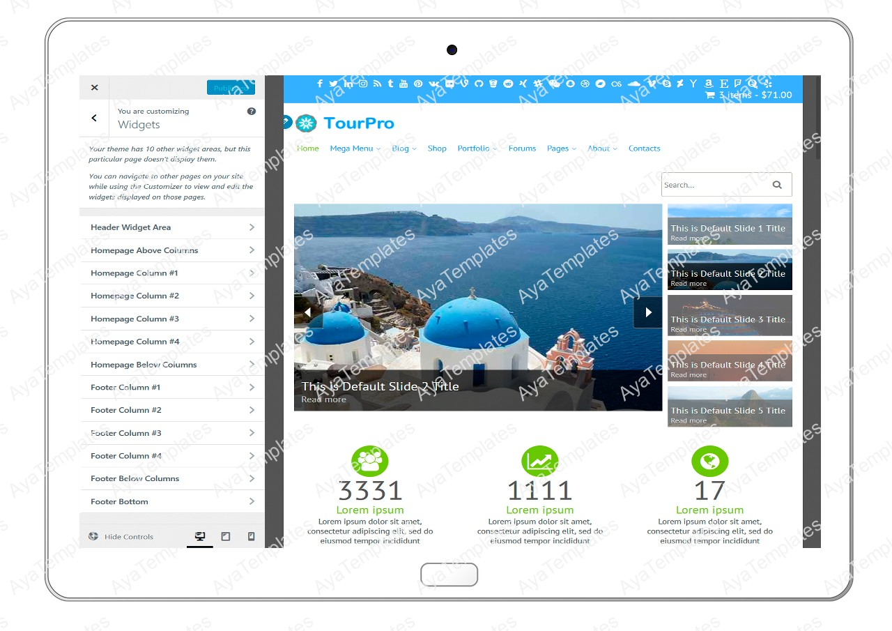 tourpro-customizing-widgets