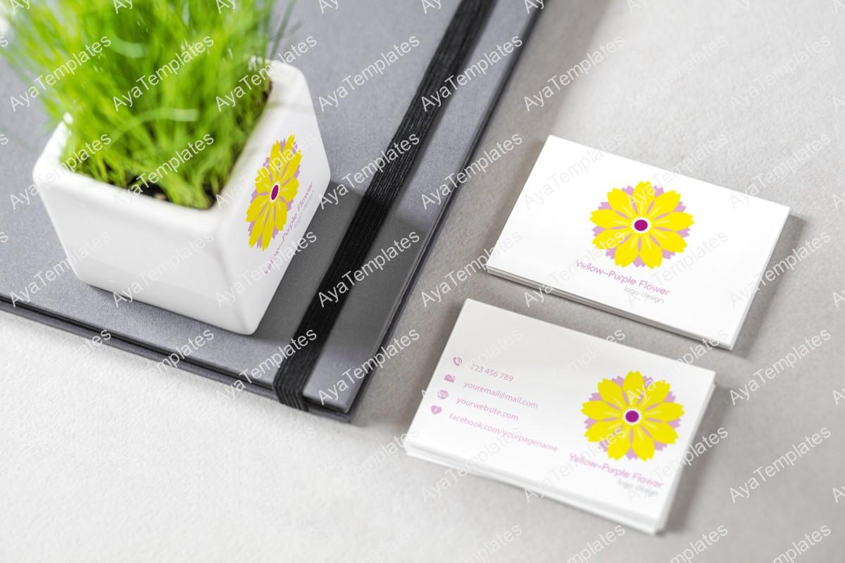 yellow-purple-flower-logo-design-brand-identity-mockup